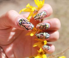 Beautiful hand-painted monarch nails!