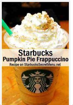 Starbucks Pumpkin Pie Frappuccino If you love the Pumpkin Spice Frappuccino, you'll love this! This Frappuccino tastes just like a slice of delicious Pumpkin Pie! Starbucks Secret Menu Items, Starbucks Menu, Starbucks Pumpkin, Starbucks Recipes, Starbucks Coffee, Coffee Recipes, Fondue Recipes, Starbucks Halloween Drinks, Starbucks Hacks