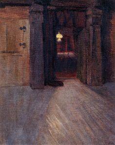 The Athenaeum - Entrance to Kalela's Dining Room (Akseli Gallen-Kallela - ) Helene Schjerfbeck, Chur, Inside Art, Dining Room Paint, Vincent Van Gogh, Oil On Canvas, Art Nouveau, Illustration, Entrance