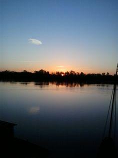 Premier soleil sur la Loire