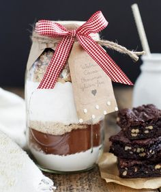 This layered brownie-in-a-jar is a decadent treat for any gluten-free friend. The secret to making the brownies so chewy and moist? A high sugar-to-flour ratio—and a substantial amount of cocoa powder. Rice and almond flours replace traditional all-purpose, and chopped walnuts add a nice crunch. The only ingredients it needs are butter, eggs, and vanilla, which are staples your recipient likely has on hand.