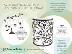 Aves, una melodía para los espacios de tu Hogar. #homeinteriorsmx #hometip #decoracion