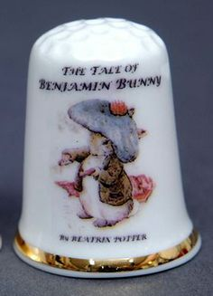 RP: Benjamin Bunny Peter Rabbit's Cousin 1904 - 2014 China Thimble | eBay.com