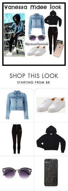 """Vanesa Mdee's Amazing Pre-Show Look."" by graceellanicole on Polyvore featuring Yves Saint Laurent, River Island and Forever 21"
