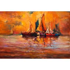 ArtzFolio Artwork Of Boats And Sea - Medium Size 20.6 inch x 14.0 inch - FRAMED CANVAS Wall Paintings with 1 inch THICK WOODEN STRETCHING MOUNT : DIGITAL PRINT Wall Posters Art Panel like Hand Paintings : Home Interior Wall Décor Photo Gifts & Decorative Paintings for Bedroom, Living Room, Drawing, Dining Room, Kitchen, Office, Reception, Bathroom, Outdoor, Gallery, Hotels, Restaurants, & Balcony : Abstract, Landscapes : Fine Art Reprint: Amazon.in: Home & Kitchen