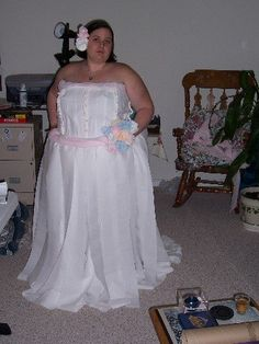 Believe it or not this wedding dress is really made from toilet paper