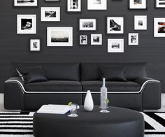 Azure Loveseat in Black/White Sofa Design, Love Seat, Gallery Wall, Black And White, Living Room, House, Furniture, Home Decor, Room Ideas