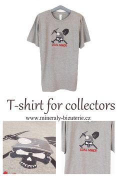 T-shirt for collectors Coal Miners, Machine Embroidery, T Shirts For Women, Mens Tops, Stuff To Buy, Accessories, Collection, Black, Fashion