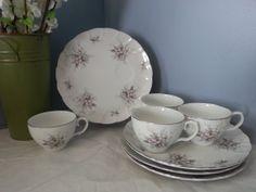 Laurel China Tea Cups/Snack Plates Set of 4 via Etsy