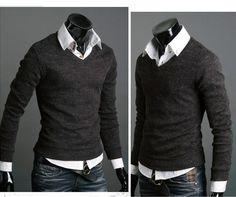 Mens Premium Stylish Slim Fit V-neck collar Sweater Jumper Top Cardigan - http://www.ebay.com/itm/Mens-Premium-Stylish-Slim-Fit-V-neck-collar-Sweater-Jumper-Top-Cardigan-Hot-Sale-/400316805947?_trksid=p5197.m1997&_trkparms=aid%3D333005%26algo%3DRIC.FIT%26ao%3D1%26asc%3D15%26meid%3D2380388303884581624%26pid%3D100016%26prg%3D1006%26rk%3D4%26sd%3D300773693582%26