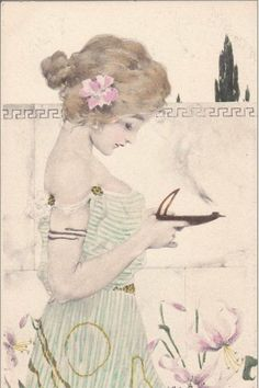 Maid of Athens by Raphael Kirchner (1900)