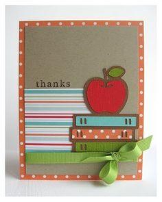 cute teacher card - from Raspberry Kate