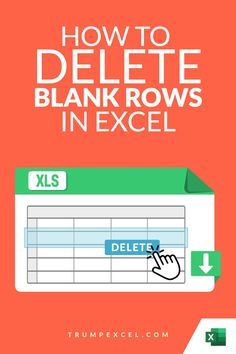 A lot of times you may have empty rows in your data set that you need to get rid of.     While there is an option to do this manually, in case you have a large data set that would not be efficient.    In this Excel tips tutorial, I'll show you 2 simple ways to delete blank rows (empty rows) in Excel (with and without VBA)