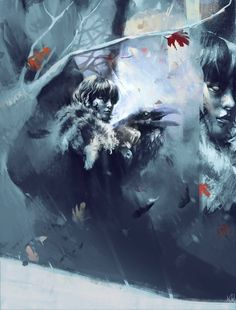 Claudia is an Italian digital artist who made this slightly abstract portrait of Bran Stark and Bloodraven.