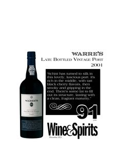 Warre's Late Bottled Vintage 2001- 94 points - Wine & Spirits