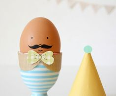 decorate the egg cup too! So cute