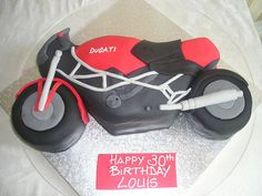 Ducati Motorcycle sports bike birthday cake  Race / motorcycle birthday party