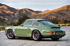 Porsche 911 Singer, Singer 911, Porche 911, Singer Vehicle Design, Ferdinand Porsche, Vintage Porsche, Cool Sports Cars, Porsche Design, Green And Purple