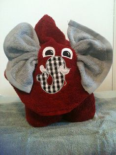 Alabama Elephant Hooded Towel