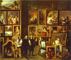 Archduke Leopold Wilhelm in his Picture Gallery, with the artist and other figures, David Teniers the Younger, 1653