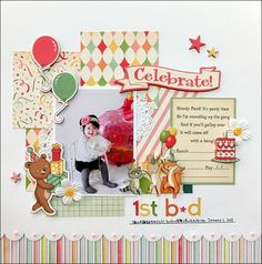 A Project by yuko tanaka from our Scrapbooking Gallery originally submitted at PM Scrapbook Cover, Love Scrapbook, Album Scrapbook, Scrapbook Sketches, Scrapbook Paper Crafts, Scrapbook Rooms, Paper Crafting, Birthday Scrapbook Layouts, Scrapbook Page Layouts