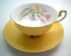 Antique Royal Chelsea tea cup and saucer by AntiqueAndCrafts