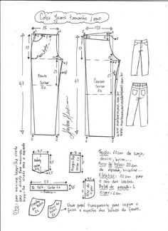 b2f61019e0 Calça jeans unisex - DIY- marlene mukai - molde infantil