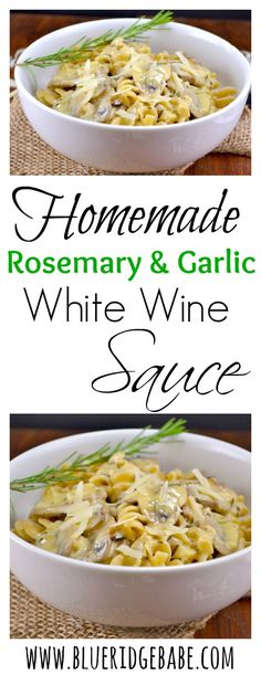 Homemade restaurant style creamy white wine sauce!
