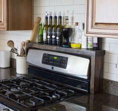 Diy shelf over stove or sink