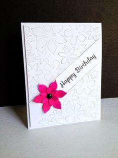 Less is More 173...Die Cut...Pink Flower