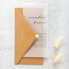 Vellum Envelope, Gold Envelopes, Addressing Envelopes, Elegant Wedding Invitations, Wedding Stationery, Wedding Designs, Decoration, Rsvp, Script