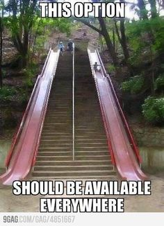 Yes!! I always want to slide when I take the kids to the park! Just awkward feeling when I do try! A big slide like this would be bad ass