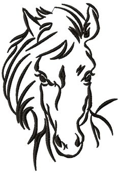 Horse sketch 2 machine embroidery design