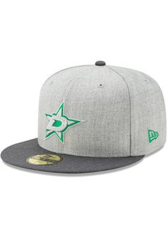 Dallas Stars New Era  Mens Grey Heather Action 59FIFTY Fitted Hat