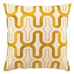 D. L. Rhein honeycomb marigold embroidered pillow