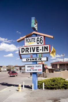 Route 66 Drive-In, Gallup, New Mexico. Old Route 66, Route 66 Road Trip, Historic Route 66, Travel Route, Travel Usa, Road Trips, Wild West, Roadside Attractions, Old Signs