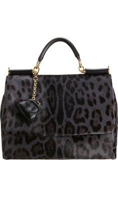 89c4fed81 Dolce & Gabbana Calf Hair Miss Sicily Bag - Grey/Black. Need an affordable  version.