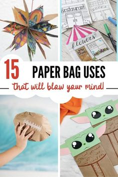 15 Fun paper bag crafts and useful ways to put paper bags to use in your life. Grab them here! Preschool Arts And Crafts, Fun Arts And Crafts, Paper Bag Crafts, Paper Bags, Trees For Kids, Art For Kids, Craft Projects For Kids, Kids Crafts, Art Projects