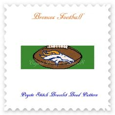 For all the fans of the DENVER BRONCOS!  THIS PDF Bead Pattern INCLUDES THE FOLLOWING:  1. A bead legend (bead numbers and colors needed) 2. The pattern design 3. A large, detailed, numbered graph of