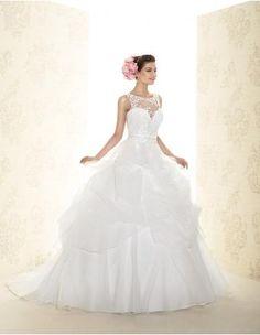 Princesové Organza Nášivky Svatební šaty 2015