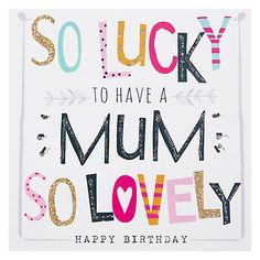 Buy Hammond Gower Mum Words Birthday Card Online at johnlewis.com