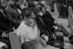 Mother of the bride tears up during ceremony. Toronto Ontario wedding photography.