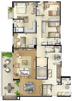 Mini House Plans, House Plans And More, House Floor Plans, Building Plans, Building A House, Circle House, Cottage Plan, House Blueprints, Open Plan Living
