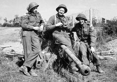 Infantrymen of the Queen's Own Rifles of Canada with their 6-pounder anti-tank gun, Carpiquet, France, 6 July 1944