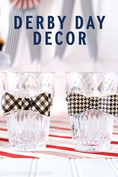 Host a Kentucky Derby party, and make sure your decor fits the theme with these unique DIY projects. These adorable glasses with bow ties create the perfect holder for your favorite cocktails. Serve your guests a Finlandia Fleur de Lis, made with ¾ oz Finlandia Classic, 3/4 oz Chambord Liqueur, 2 oz lemonade, 1 oz cranberry juice and lemon wedge to garnish.