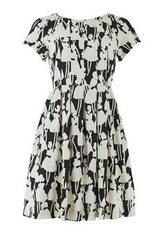 Orla Kiely Monochrome Tea Dress Size 12