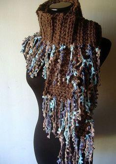 Chunky Crochet Scarf, Chunky Scarves, Freeform Crochet, Crochet Scarves, Crochet Edgings, Crochet Motif, Crochet Quilt, Crochet Chart, Knit Crochet