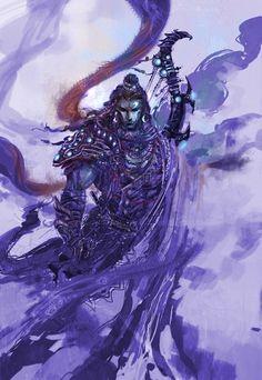 Post with 6471 views. Art by Abhishek Singh Hanuman Wallpaper, Lord Shiva Hd Wallpaper, Indian Gods, Indian Art, Angry Lord Shiva, Mahakal Shiva, Krishna, Rudra Shiva, Lord Shiva Hd Images
