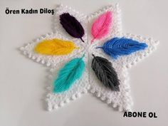 3 Boyutlu tüy lif modeli (Sevilay Uysal & Ören Kadın Diloş) - YouTube Crochet Flowers, Crochet Projects, Dream Catcher, Youtube, Crochet Hats, Crochet Patterns, Lily, Stitch, Crochet Stitches