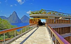 Jade Mountain St Lucia is elevated majestically above the 600 acre beach front resort of Anse Chastanet. Jade Mountain is a stunning scenic beauty, with bold architectural design & individual bridges leading to exceptional infinity pools making Jade Mountain one of the Caribbean's most mesmerising resort experiences. Jade Mountain's sanctuaries are stage-like settings from which to embrace the full glory of St Lucia's Pitons World Heritage Site, and of course, the eternal Caribbean Sea…